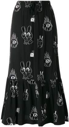McQ printed midi skirt