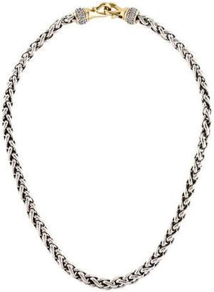 David Yurman Diamond Wheat Chain Necklace