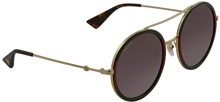 Gucci Green Gradient Round Sunglasses GG0061S-003