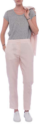 French Connection Haiti Linen Trousers, Barely Pink