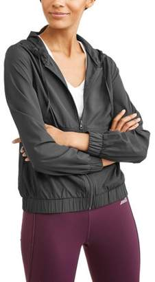 Generic Women's Full Zip Lasercut Detail Hoodie Windbreaker
