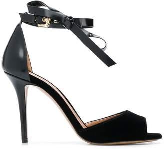 Emporio Armani ankle bow strap sandals