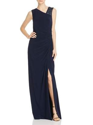 Adrianna Papell Draped Jersey Gown