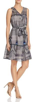 Rebecca Minkoff Nicky Printed Tassel-Tie Dress