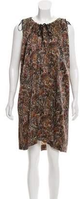 Etoile Isabel Marant Silk Print Knee-Length Dress