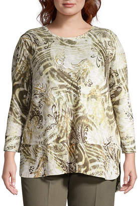 Alfred Dunner Autumn in New York Abstract Sweater - Plus
