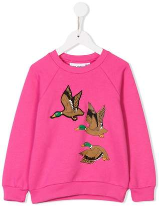Mini Rodini wild duck-print sweatshirt