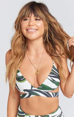 MUMU Ryder Wrap Bra Bikini Top ~ Peruvian Palm