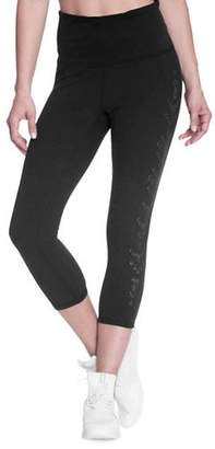 Gaiam Om Luxe High-Waist Capri Leggings