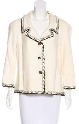 St. John Couture Structured Long Sleeve Blazer