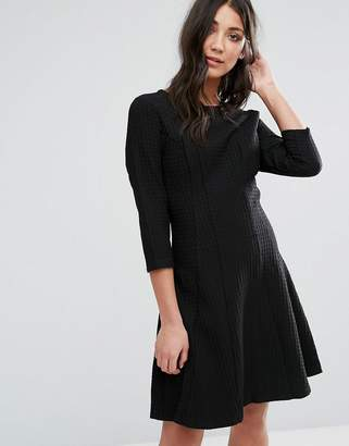 Lavand 3/4 Sleeve Strutured Skater Dress