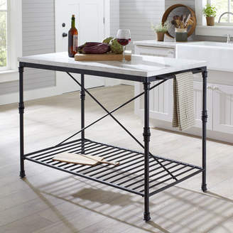 Birch Lane Castille Prep Table with Marble Top