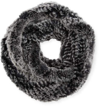 Jocelyn Rex Rabbit Fur Infinity Scarf