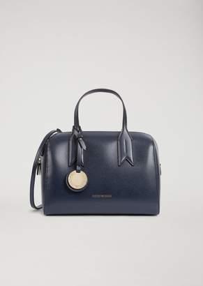 Emporio Armani Bauletto Bag With Logo Charm