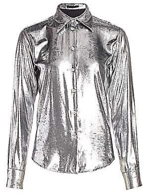 Helmut Lang Women's Metallic Velvet Shirt