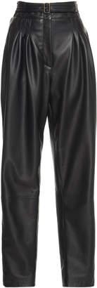 Alberta Ferretti Tapered Leather Pant
