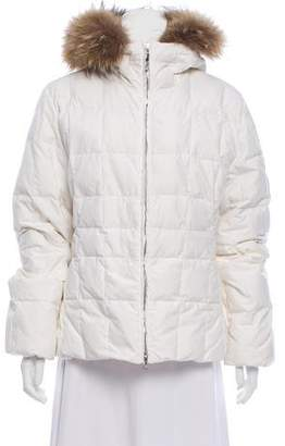 Post Card Hooded Puffer Jacket