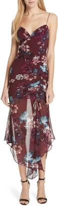 Nicholas Floral Silk Drawstring Dress