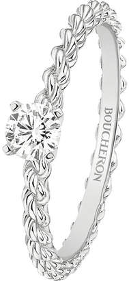 Boucheron Serpent Bohème 18ct white-gold and solitaire diamond ring
