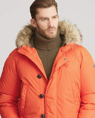 Ralph Lauren RLX Faux Fur-Trim Down Jacket