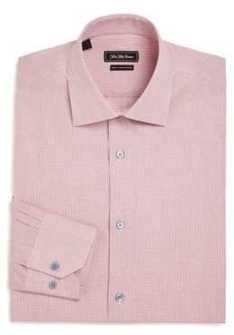 Saks Fifth Avenue COLLECTION Slim-Fit Check Cotton Dress Shirt