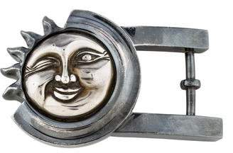 Kieselstein-Cord Sterling Sun Medium Belt Buckle