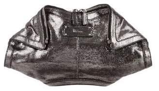 Alexander McQueen Metallic De Manta Clutch