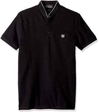 The Kooples Men's Mandarin Collar Pique Polo Shirt