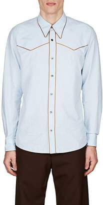 Dries Van Noten Men's Cotton Oxford Cloth Western Shirt