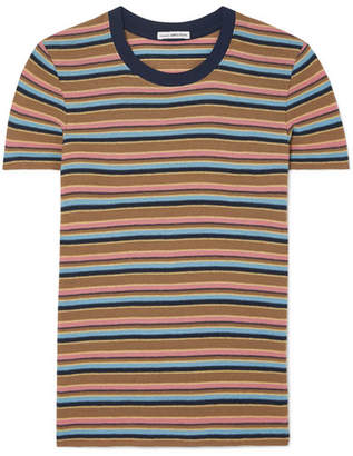 James Perse Vintage Boy Striped Cotton-blend Jersey T-shirt - Brown