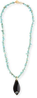 Ashley Pittman Rough-Cut Turquoise Pendant Necklace