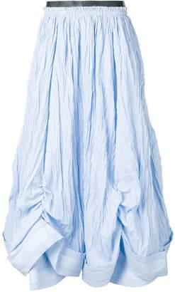J.W.Anderson belted crinkle full skirt