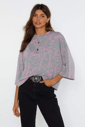Nasty Gal Just a Splash Oversized Tee