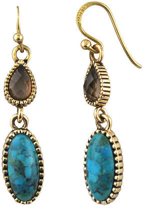 Artsmith BY BARSE Art Smith by BARSE Brass Turquoise and Smoky Quartz Drop Earrings