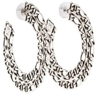 Dannijo Hawk Chain Hoop Earrings