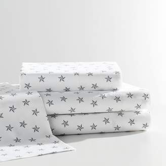 Pottery Barn Teen The Emily &amp Meritt Faceted Stars Sheet Set, XLTwin, Ivory