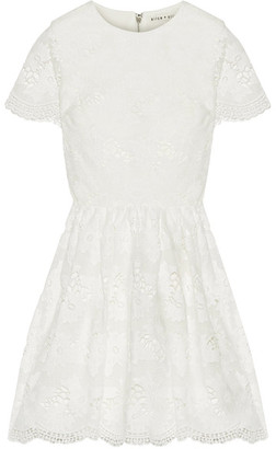 Alice + Olivia Alice Olivia - Karen Lace Mini Dress - Off-white $535 thestylecure.com