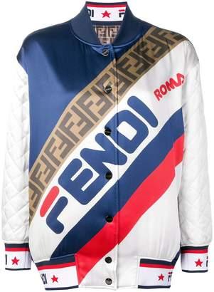 Fendi reversible logo bomber jacket