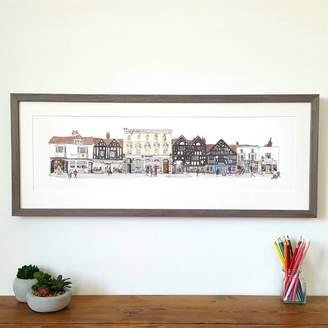 Chris Gent Illustration Farnham High Street 'The Borough'