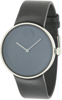 Movado Men's Leather Strap Watch