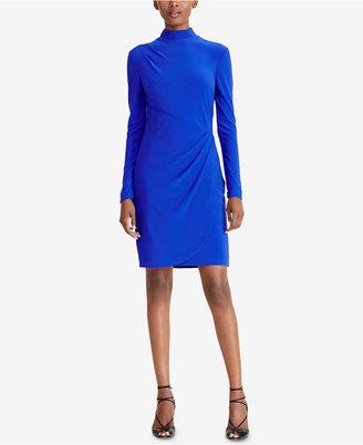 Lauren Ralph Lauren Mock-Neck Jersey Dress $139 thestylecure.com