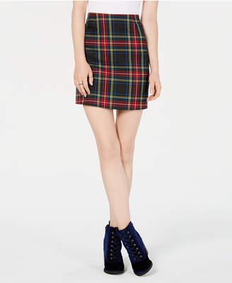 Love, Fire T.d.c. Topson Plaid Mini Skirt