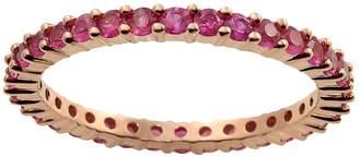 10k Rose Gold Pink Sapphire Eternity Wedding Ring