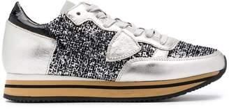 Philippe Model Tropez Higher Flock sneakers