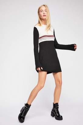 Colorblock Swit Mini Dress