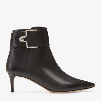 Bally Hinea Black, Women's calf leather ankle boot in black