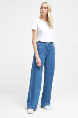 French Connenction Shelby Denim Wide Leg Jeans