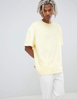 Weekday Oversized T-Shirt In Yellow