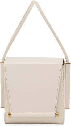 Roksanda Smooth Leather Box Bag, White