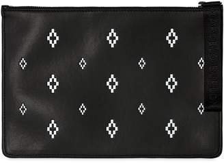 Marcelo Burlon County of Milan Crosses Printed Faux Leather Pouch